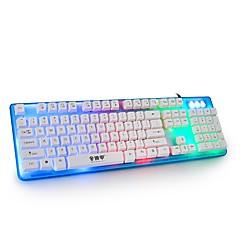オフィス家庭のゲームキーボードケーブルミュート防水外部素敵な色すべてのUSB