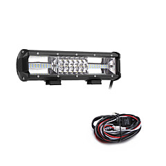 cheap -162W 16200LM 6000K 3-Rows LED Work Light Cool White Combo Offroad Driving Light for Car/Boat/Headlight IP68 9-32V  2m 1-To-1 Wiring Harness Kit