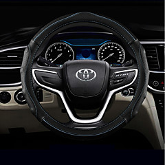 billige Rattovertrekk til bilen-Rattovertrekk til bilen Lær 38 cm Svart / Grønn / Svart / Rød / Blå Svart For Toyota RAV4 / Highlander / Corolla Alle år