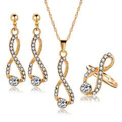 tanie Zestawy biżuterii-Damskie Kryształ Rhinestone Kryształ Nieskończoność Biżuteria Ustaw Zawierać Náušnice Naszyjniki Pierścień - Elegancki Słodkie Kryształ