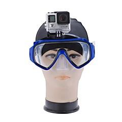 billiga Dykmasker, snorklar och simfötter-Snorkelmask / Simglasögon Vattentät Två Fönster - Simmning, Dykning pet - för Vuxen Ljusblå