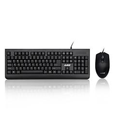 Χαμηλού Κόστους mouse keyboard combo-ajazz wiredx1180 πολυμέσα εργονομικό usb gamingblue διακόπτες μηχανική πληκτρολόγιο 1000dpi 8 κουμπιά οπτικό ποντίκι παιχνιδιών