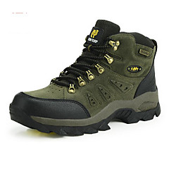 Mountaineer Shoes Men's Women's Anti-Slip Rain-Proof Wearable Breathability Leisure Sports High-Top Cowhide Rubber Hiking Running
