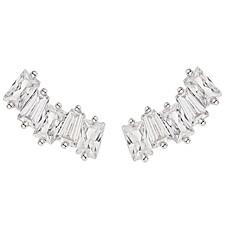 billige Fine smykker-Dame Zirkonium / Guldbelagt Stangøreringe - Elegant / Mode Sølv Firkantet Øreringe Til Forlovelse / Formel