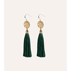 billige Fine smykker-Dame Tassel / Bohemisk Store øreringe - Tassel / Bohemisk Grøn Line Øreringe Til I-byen-tøj / Gade