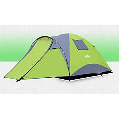 3-4 personer Telt Skjermtelt Dobbelt camping Tent Ett Rom Automatisk Telt Vanntett Glidelås Anvendelig til Strand Camping / Vandring /