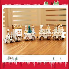billige Originale moroleker-Julepynt Julegaver Juleleker Tog Leketøy Tog Ferie Barn Bursdag Klassisk Snømann Tre 1pcs Deler