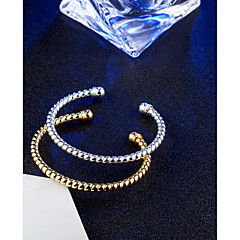 cheap Bracelets-Women's Bangles Cuff Bracelet Vintage Elegant Titanium Circle Jewelry For Wedding Engagement Daily Ceremony Office & Career