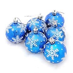 クリスマスデコレーション クリスマスパーティー用品 クリスマスツリー飾り Christmas Trees おもちゃ 球体 クリスマス スノーフレーク 休暇 ファンタジー 成人 6 小品