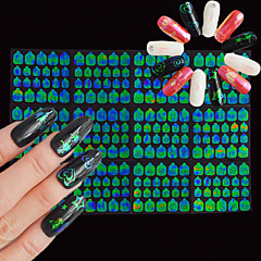 billige Negleklistremerker-12 nail art klistremerke dekaler døcut manikyr stencil 3d spiker klistremerker makeup kosmetisk negler kunst design