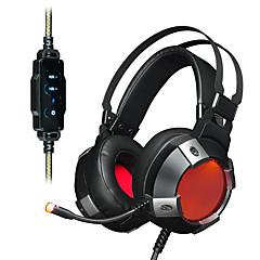 billiga Headsets och hörlurar-AJAZZ AX361 7.1 Headband Kabel Hörlurar Dynamisk Rostfritt stål / Plast Spel Hörlur Med volymkontroll / mikrofon / Dual Drivers headset