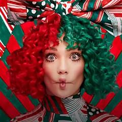 billige Kostymeparykk-Syntetiske parykker / Kostymeparykker Krøllet / Kinky Curly Bobfrisyre Syntetisk hår Midtskill / Afroamerikansk parykk Rød / Grønn Parykk