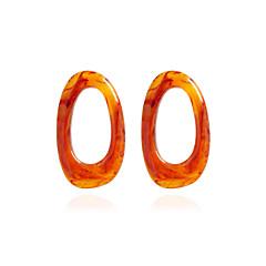 cheap Earrings-Women's Stud Earrings Drop Earrings Metallic Acrylic Oval Jewelry For Gift Daily