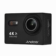 andoer an9000 4k 16mp wifi ação esportes câmera 1080p fhd 2 touchscreen 170 lente grande angular com suporte rígido 4x zoom impermeável