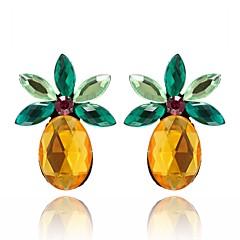 Žene Sitne naušnice Kristal Voće slatko Lijep Kristal Legura Ananas Jewelry Za Dnevno Izlasci