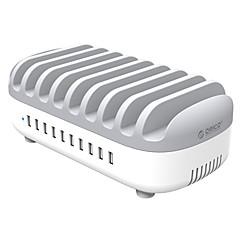 Nabíječka USB ORICO 10 portů Stolní nabíjecí stanice S inteligentním označením S Quick Charge 3.0 US zásuvka EU zásuvka UK zásuvka AU