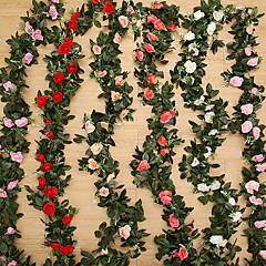 povoljno Umjetno cvijeće-Umjetna Cvijeće 1 Podružnica Moderna Vjenčanje Roses Biljke Cvjeće za stol