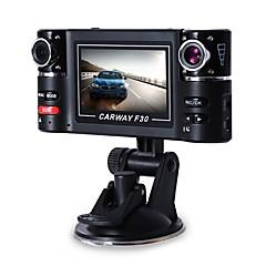 cheap Car DVR-Carway F30 Car DVR 2.7 TFT LCD HD 1080P Rotated Dual Lens Dash Camera Vehicle Digital Video Recorder Camcorder Night Vision