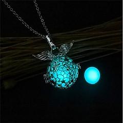Χαμηλού Κόστους Φωτεινά κοσμήματα-Γυναικεία Κρεμαστά Κολιέ / Κλειδαριές Κολιέ - Μοντέρνα, Φωτίζει Πορτοκαλί, Μπλε Απαλό, Πράσινο Ανοικτό Κολιέ 1 Για Χριστούγεννα, Μπαρ