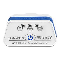 baratos -tonwon 2 ble4.0 elm327 obd2 scanner de diagnóstico bluetooth4.0 verifique o suporte do motor do carro todos os protocolos obdii usam para