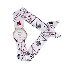 Χαμηλού Κόστους -Γυναικεία Χαλαζίας Ρολόι Καρπού Κινέζικα Καθημερινό Ρολόι Ύφασμα Μπάντα Λουλούδι Καθημερινό Μποέμ Μοναδικό Watch Creative Μαύρο Λευκή