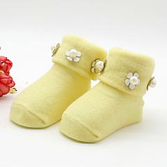 billige Undertøj og sokker til piger-Pige Trikotage Ensfarvet, Bomuld Alle årstider Sødt Elastisk Rød Gul