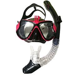 baratos -Kits para Snorkeling Máscaras de mergulho Pacotes de Mergulho S. Valentim Anti-Nevoeiro Jovem Natação Mergulho PC (policarbonato) Silicone