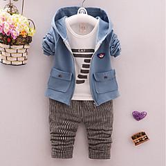 billige Tøjsæt til drenge-Baby Drenge Afslappet / Aktiv I-byen-tøj Ensfarvet / Tal Langærmet Bomuld Tøjsæt
