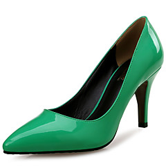 cheap Women's Heels-Women's Shoes Patent Leather Spring / Fall Comfort Heels Stiletto Heel Pointed Toe Green / Party & Evening / Dress / Party & Evening