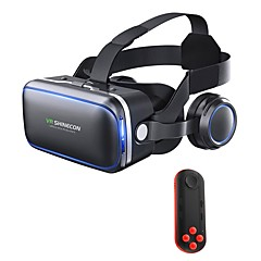 cheap VR Glasses-VR Headset Shinecon 6.0 Pro Stereo Virtual Reality Smartphone 3D Glasses BOX VR Headset with Controller for Android