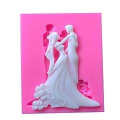 billige Bakeredskap-bryllup par silikon mold kake dekorere verktøy sjokolade fondant gumpaste mold