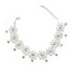 Mulheres Simples Gargantilhas Imitação de Pérola Cristal Imitação de Pérola Imitações de Diamante Gargantilhas , Casamento Festa
