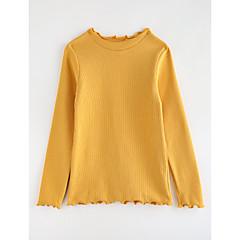 billige Pigetoppe-Baby Pige Tegneserie Ensfarvet Bomuld T-shirt Grøn 100