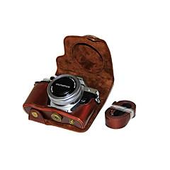 tanie Torby na laptopa-dengpin® pu skóra Aparat Pokrywa skrzynki torba dla Olympus E-m10 Mark II EM10 Mark2 (14-42mm obiektyw EZ (różne kolory)