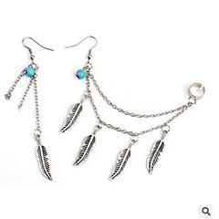 abordables -Femme Boucles d'oreille goutte Turquoise Bohème Décalage Turquoise Alliage Forme de Feuille Bijoux Quotidien Plein Air