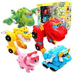 baratos -Robô Barcos de Brinquedo Carro de Corrida Brinquedos Dinossauro Animal Animais Veículos Animais Transformável Interação pai-filho
