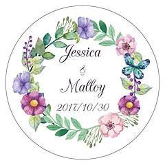 billige Klistremerker og etiketter-Blomst / Botanikk Hage Tema Blomster Tema Klistremerker, etiketter og tags - 10 Rund Kvadrat Sirkelformet Unik bryllupsdekor