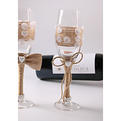 cheap Toasting Flutes-The New Linen Bowknot Cup Set