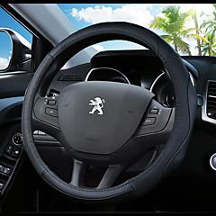 billige Rattovertrekk til bilen-Rattovertrekk til bilen ekte lær 38 cm Blå / Svart / Svart / Rød For Peugeot 307 / 301