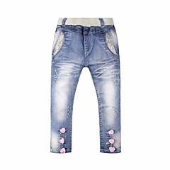 billige Bukser og leggings til piger-Baby Pige Ensfarvet Bukser