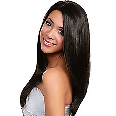 cheap Wigs & Hair Pieces-Human Hair Full Lace Wig Peruvian Hair Straight Wig 130% Density Women's Long Human Hair Lace Wig