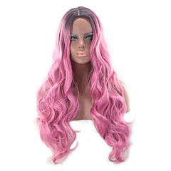 cheap Wigs & Hair Pieces-Synthetic Wig Women's Wavy / Body Wave Blonde Synthetic Hair Heat Resistant / Ombre Hair Blonde Wig Long Capless Pink Grey Blonde