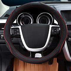 billige Rattovertrekk til bilen-Rattovertrekk til bilen ekte lær 38 cm Blå / Rød / Beige Til Ford Focus / Escort / Mondeo Alle år