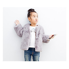 baratos Roupas de Meninas-Infantil Para Meninas Simples Sólido Manga Longa Curto Acrílico Blusa Vermelho