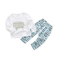 billige Babytøj-Baby Pige Normal Stribet Langærmet Bomuld Tøjsæt