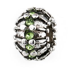 billige Perler og smykkemaking-DIY Smykker 10 stk Perler Strass Legering Perle Rosa Rød Grønn Lyseblå Marineblå Rund Perlene 0.45 cm DIY Halskjeder Armbånd