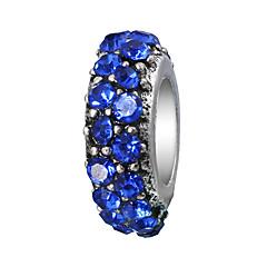 tanie Koraliki i tworzenie biżuterii-Biżuteria DIY 10 szt Korálky Kryształ górski Stop Purple Pearl Pink Czerwony Light Blue Granatowy Cylinder Koralik 0.45 cm majsterkowanie