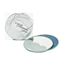 baratos Descansos de Copos para Lembrancinha-Vidro Orgânico Circulo Elegant Porta-Copos para Lembrancinha - 2 Peça/ Conjunto Tema Jardim Férias Casamento