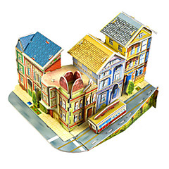 preiswerte -Modellbausätze Architektur Eltern-Kind-Interaktion Handgefertigt Exquisit Weicher Kunststoff 1pcs Künstlerisch / Retro Romantisch Kinder