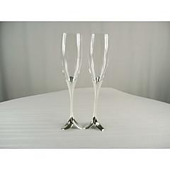 Vidro Brindando flautas Caixa de Ofertas Floral & Botânicos Casamento Todas as Estações